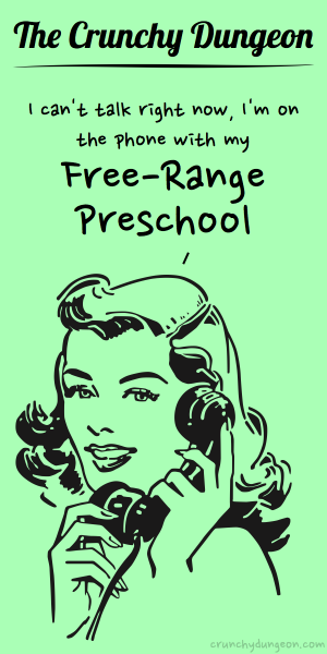 TCD Comic - On the Phone - Free-Range Preschool