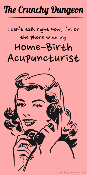 TCD Comic - On the Phone - Home-Birth Acupunturist