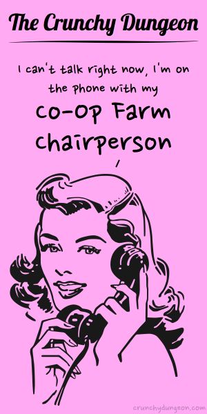 TCD Comic - On the Phone - Co-Op Farm Chairperson
