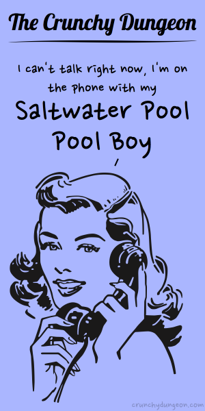 TCD Comic - On the Phone - Saltwater Pool Boy